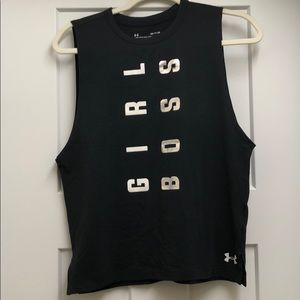 """Under Armour Tops - Under Armour """"GIRL BOSS"""" muscle tank"""